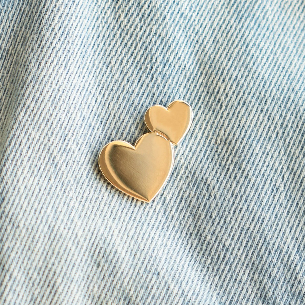 Two Hearts Pin