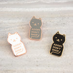 Adopt Don't Shop Enamel Cat Pins