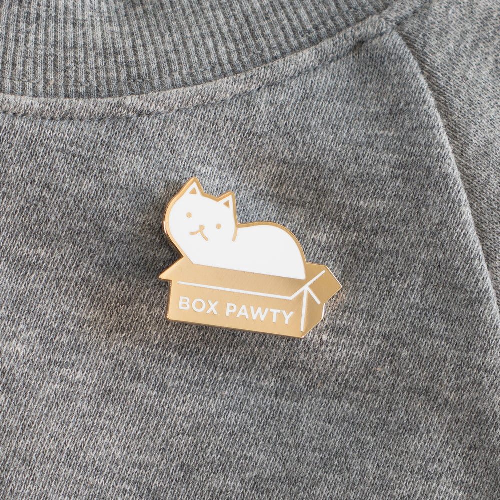 Load image into Gallery viewer, Box Pawty Enamel Cat Pin
