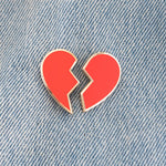 Broken Heart Emoji Enamel Pin Set