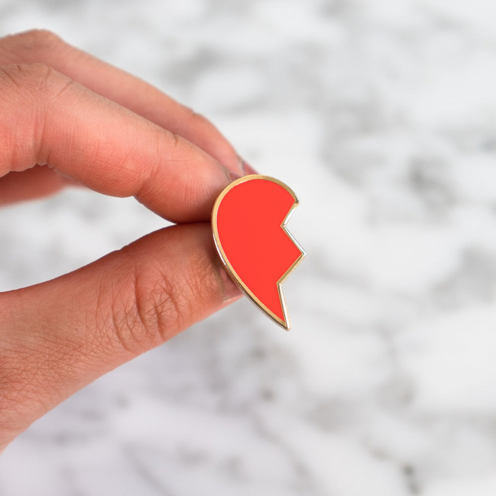 Broken Heart Emoji Enamel Pin