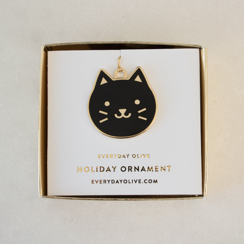 Black Kitty Ornament