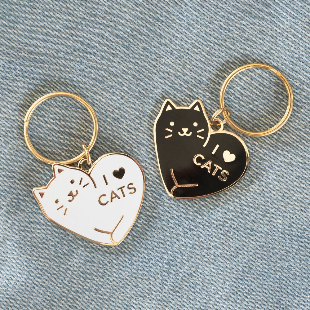 I Love Cats Keychain