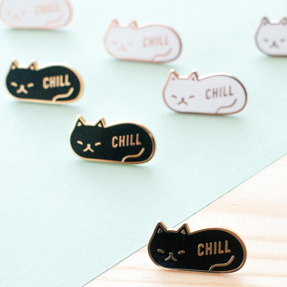 Chill Cat Pin