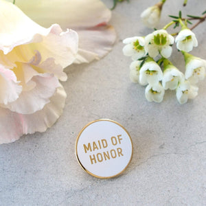 Load image into Gallery viewer, Maid of Honor Pin