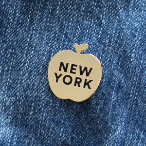 New York Apple Pin