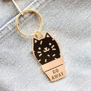Load image into Gallery viewer, Cactus Cat Keychain
