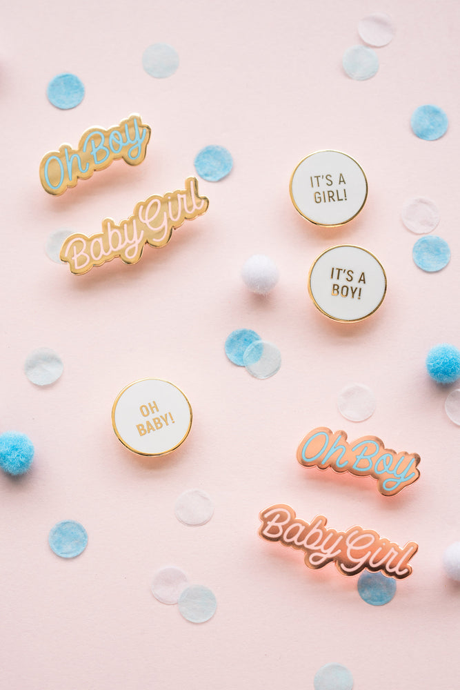 Enamel Baby Shower Pins
