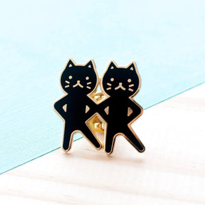 Dancing Cats Pin