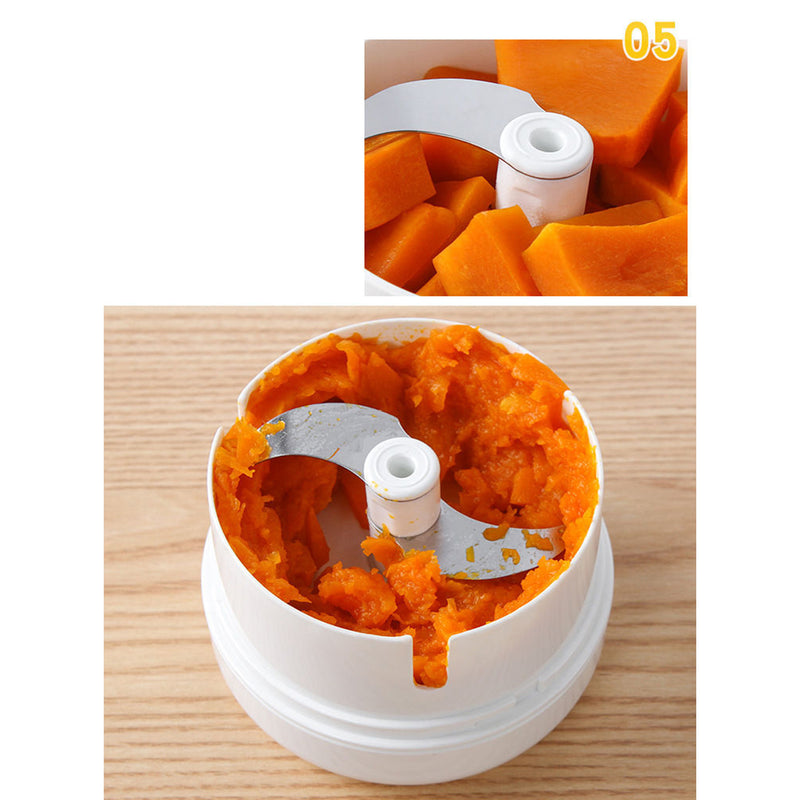 Mini Garlic Chopper blender, Pull String Food Processor for Garlic Ginger Chilli Meat Nuts