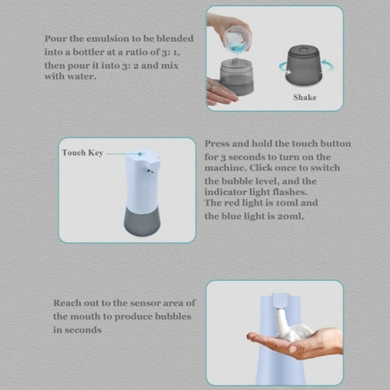 Touch-Free Automatic Sensor Foam Soap Dispenser (USB Rechargeable)