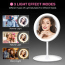 3 Tone LED Make-Up Mirror with dimmable Light (USB Rechargeable)