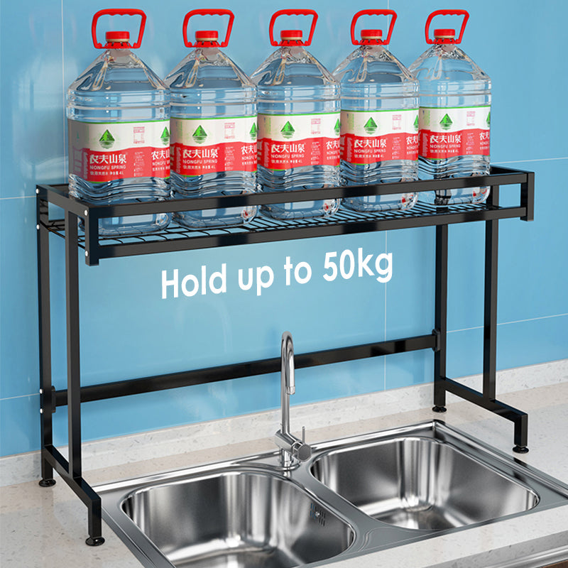 Black Frame Stainless Steel Kitchen Sink Rack