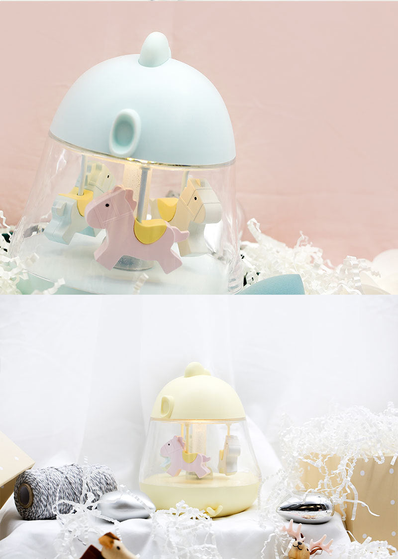 Carousel Musical Box Colour Changing LED Night Light (USB Rechargeable)