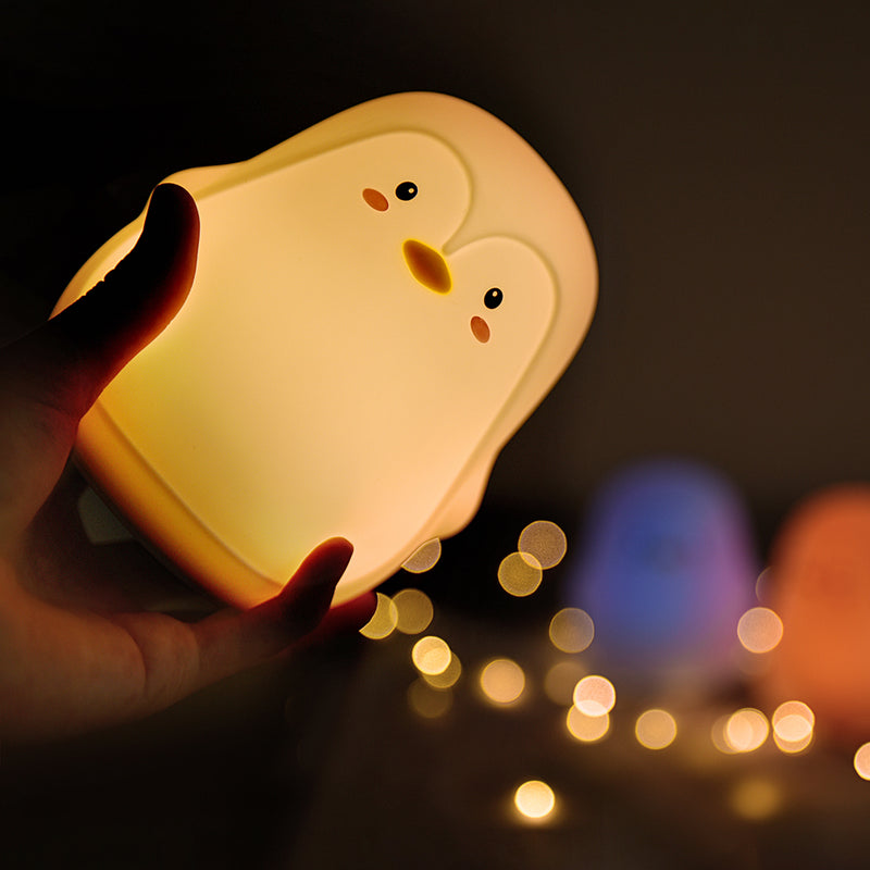 Adorable White Penguin 7 Colour Changing LED Night Light (USB Rechargable )