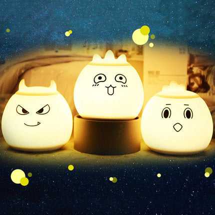 [Emoji Series] USB Rechargable 7 Colour Changing LED Night Light Touch Sensor