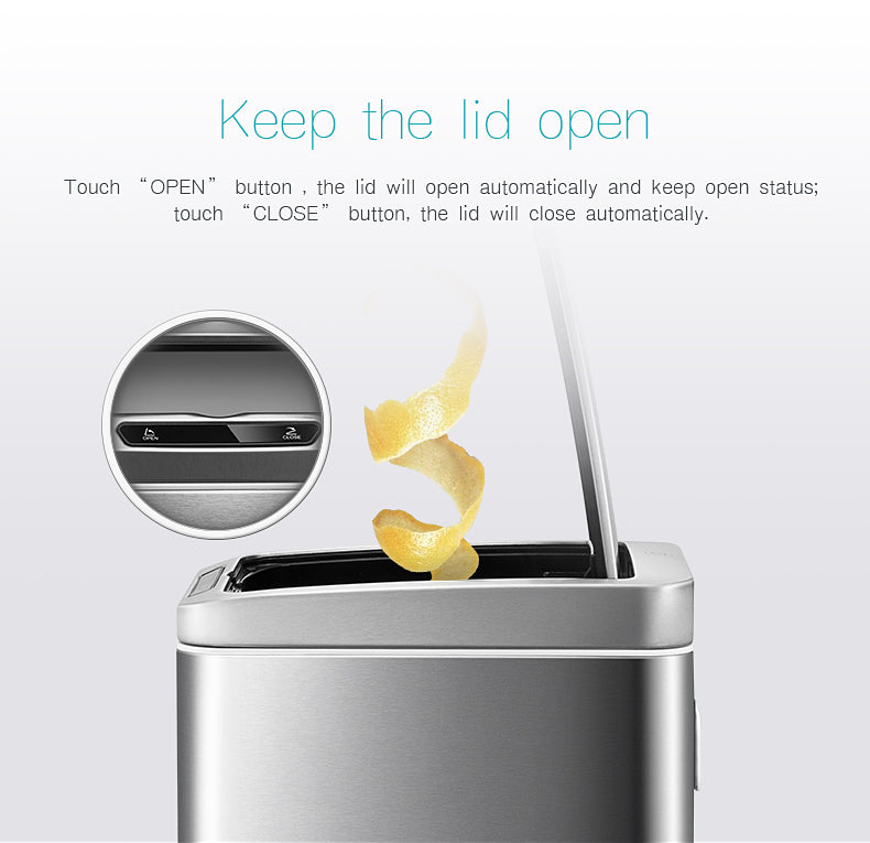 Upella Designer Automatic Infrared Sensor Soft Closing Waste Bin (Rechargeable) – Sensible Life