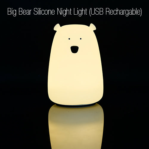 [Big Bear] USB Rechargable 7 Colour Changing LED Night Light Touch Sensor