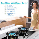 Gas Stove Hob Windproof Hood Windshield cover Gather Fire Cast Iron