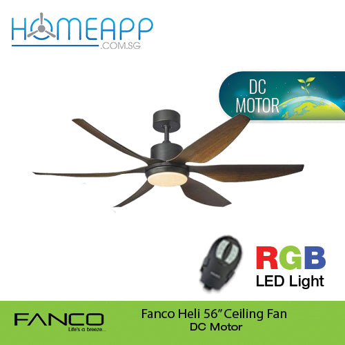 [DC Motor] Fanco Co-Fan Heli Ceiling fan with LED Light, Remote