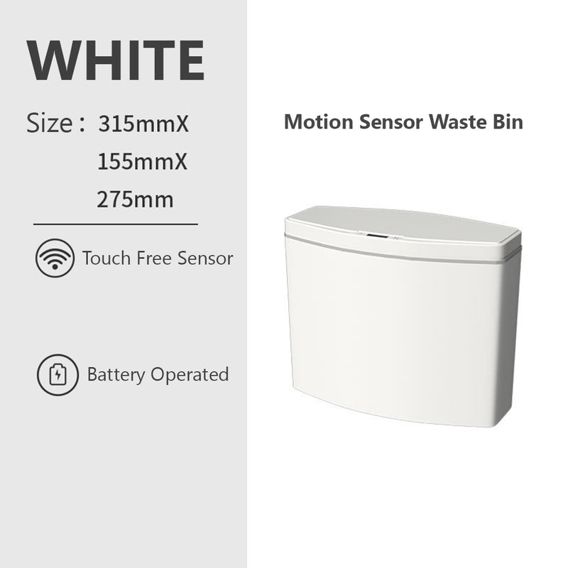 [ITC2] Slim Automatic Touchless Sensor Waste bin Trash Can Basket Dustbin for Kitchen Bathroom Bedroom