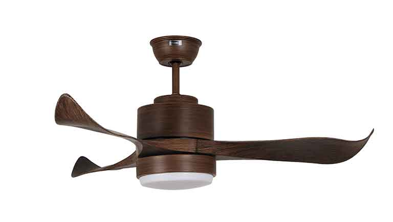 Fanco E-Trinity Ceiling Fan with 3 tone LED Light, Remote (With Installation)