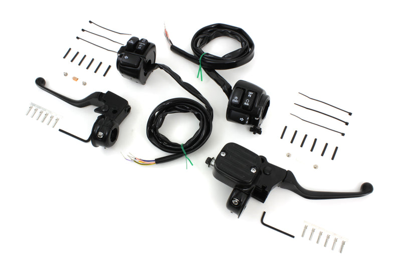Handlebar Control Kit with Switches Black FXR upgrade Single or Dual - Hardcore Cycles Inc