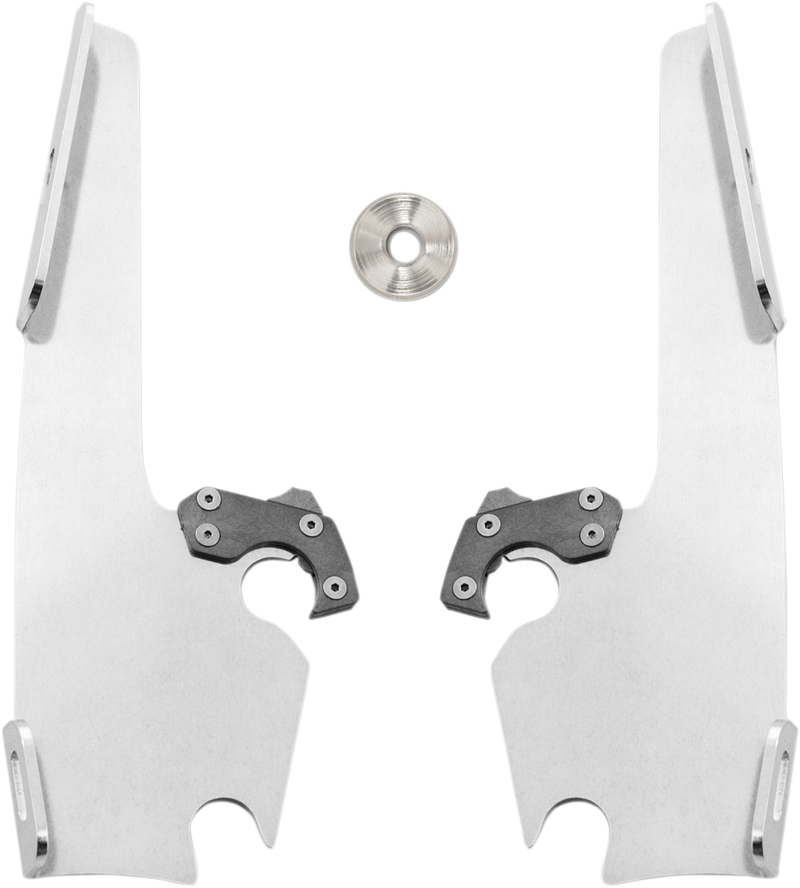 Memphis Shades Batwing Fairing Trigger Lock Plate Only Mount Kit - Hardcore Cycles Inc