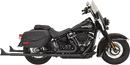 Bassani Fishtail True Dual Exhaust — with Baffles and without Baffles - Hardcore Cycles Inc