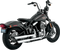 "Vance & Hines 3"" Round Twin Slash Slip-On Muffler - Hardcore Cycles Inc"