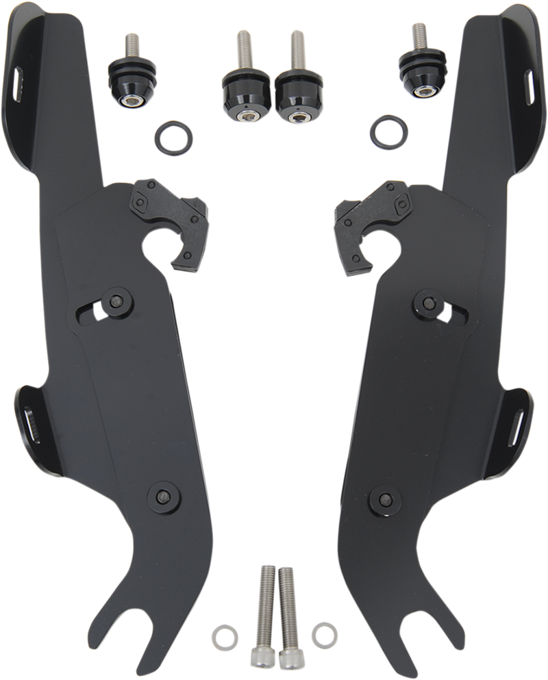 Memphis Shades Fats/Slim Windshield Trigger-Lock Complete Mount Kit - Hardcore Cycles Inc
