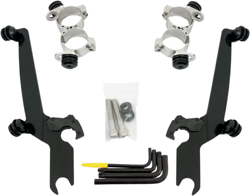 Memphis Shades Sportshield Trigger-Lock Complete Mount Kit - Hardcore Cycles Inc