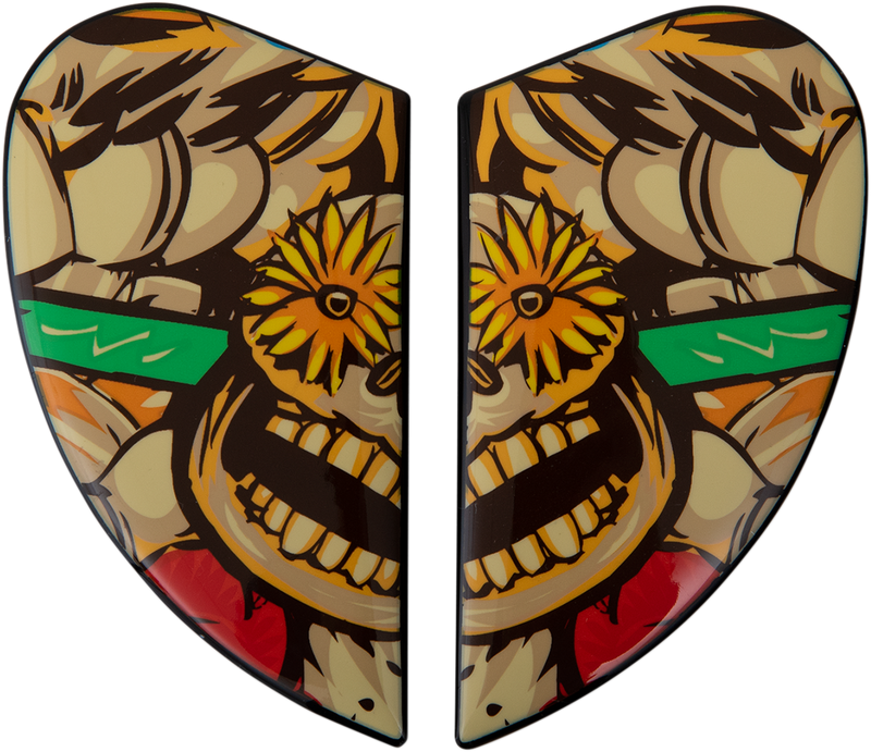 Icon Airmada™ Helmet Side Plates — Dia De Los Muertos - Hardcore Cycles Inc