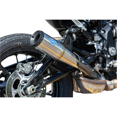 S&S CYCLE  Grand National Slip-On Muffler Stainless Steel  FTR 1200 - Hardcore Cycles Inc