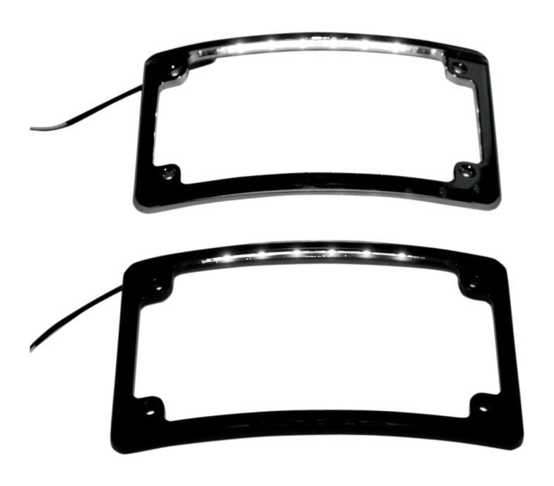 RADIUS MOTORCYCLE PLATE FRAMES WITH LED ILLUMINATION
