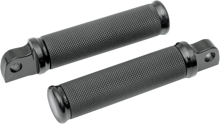 Black Knurled Footpegs