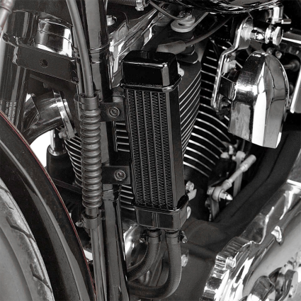 JAGG VERTICAL FRAME-MOUNT OIL COOLER KITS - Hardcore Cycles Inc