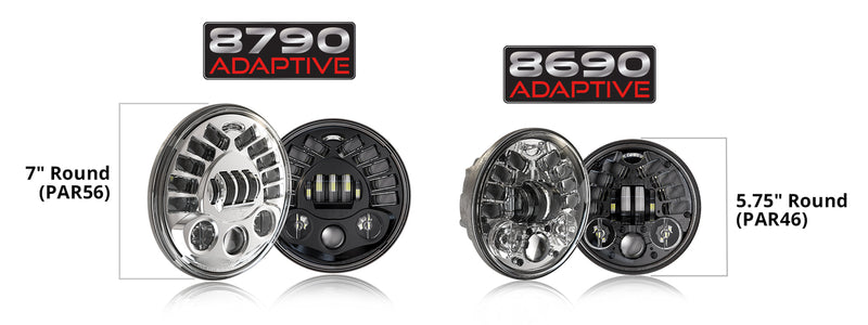 Adaptive 2 LED Headlights JW Speaker 5.75""