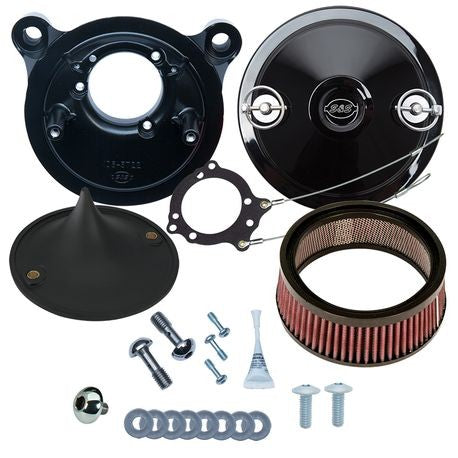 S&S Stealth Air Cleaner Kit with Black Muscle for 2001-'17 bt Delphi® EFI, Except Throttle by Wire - Hardcore Cycles Inc