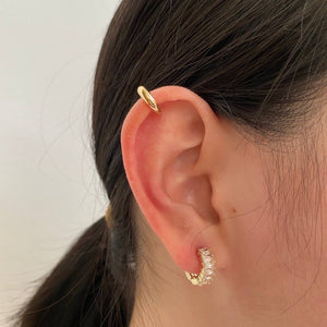 Diamond 925 Mini Hoop Earrings