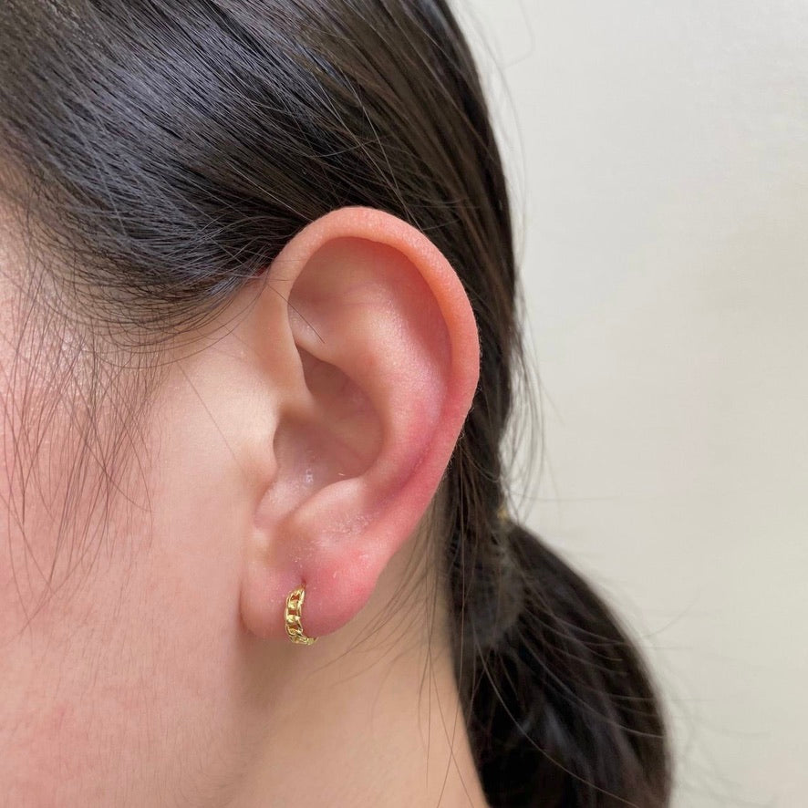 Braided Gold Vermeil Ear Huggers