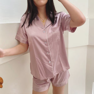Silk Pajama Set - Blush