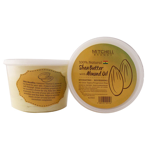 100% Natural Shea Butter Jar Enhanced With Almond Oil 8oz