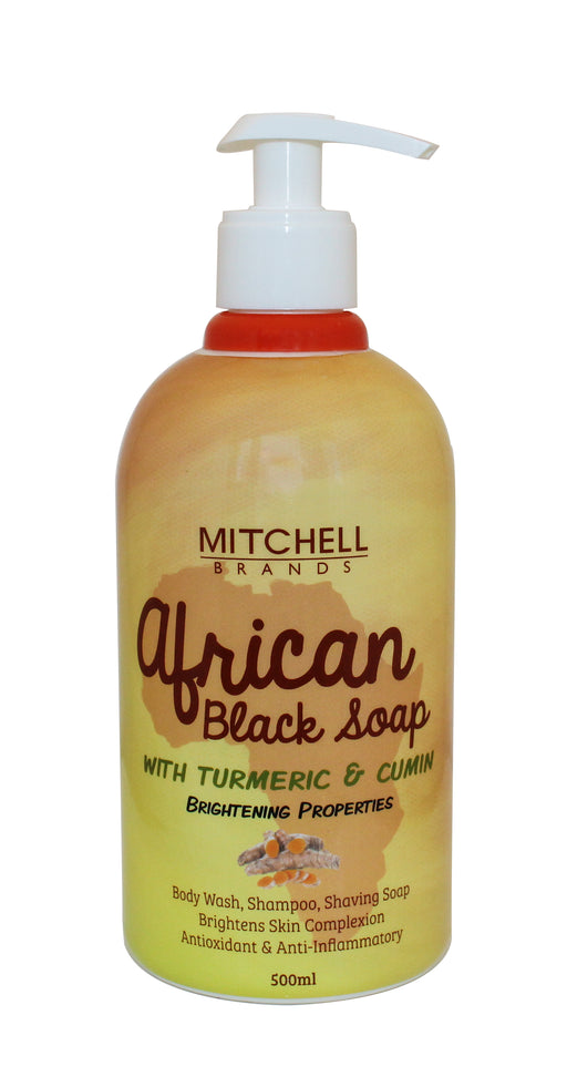 African Liquid Black Soap with Tumeric & Cumin