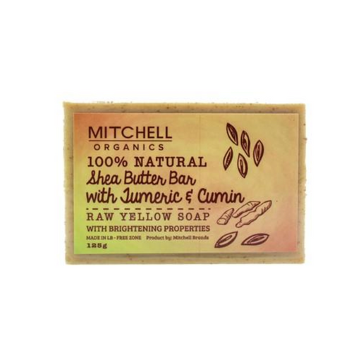 Mitchell Organics 100% Natural Shea Butter Bar With Turmeric & Cumin