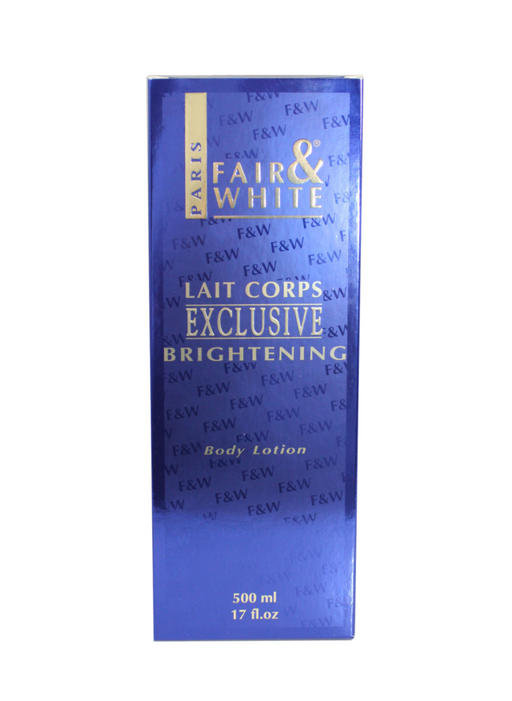 Fair& White Exclusive Brightening Body Lotion 17floz / 500ml