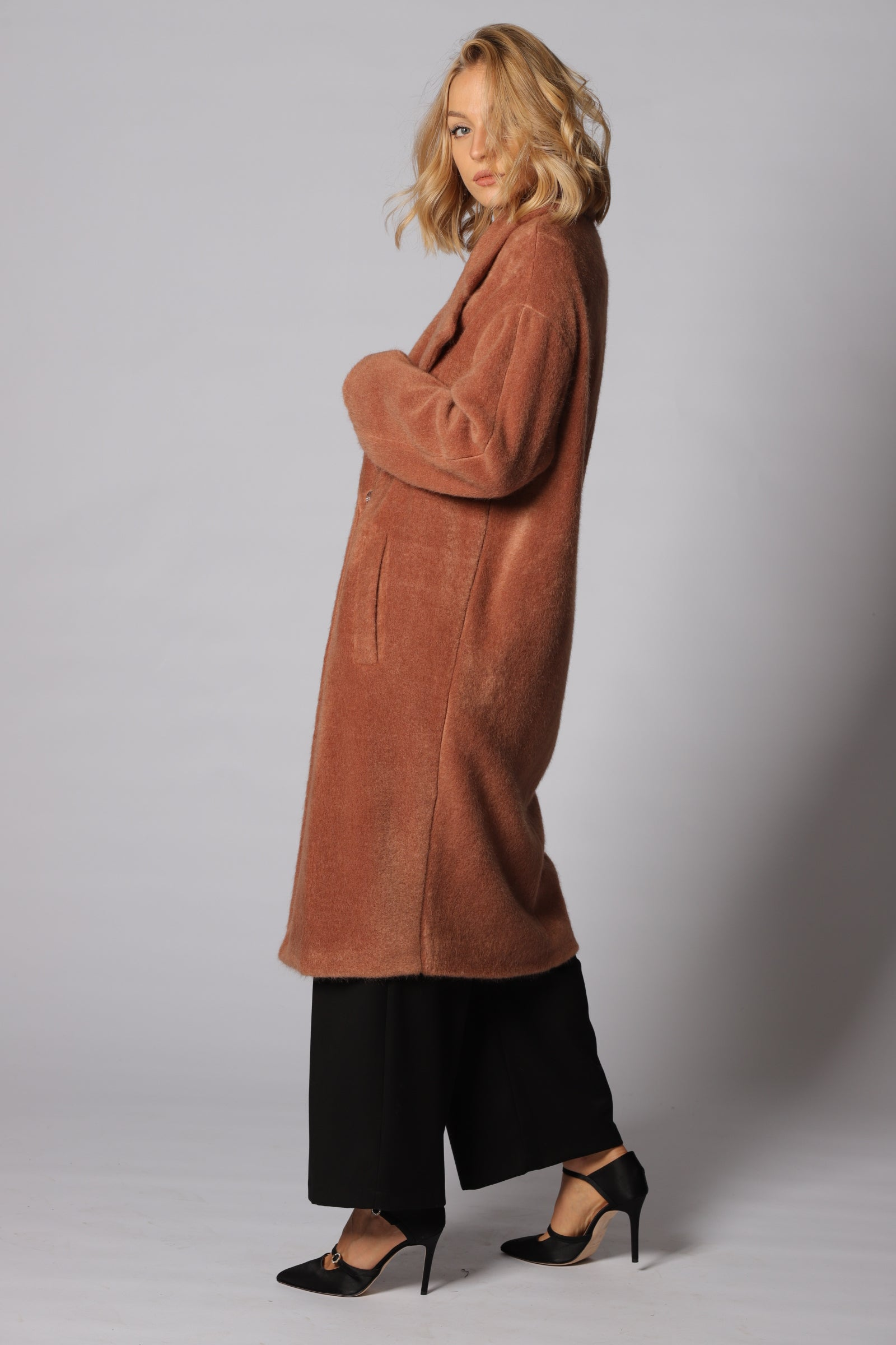 Nora Barth Factory Group - Nora Barth Cappotto Over Effetto Alpaca Art. 17864 - 160