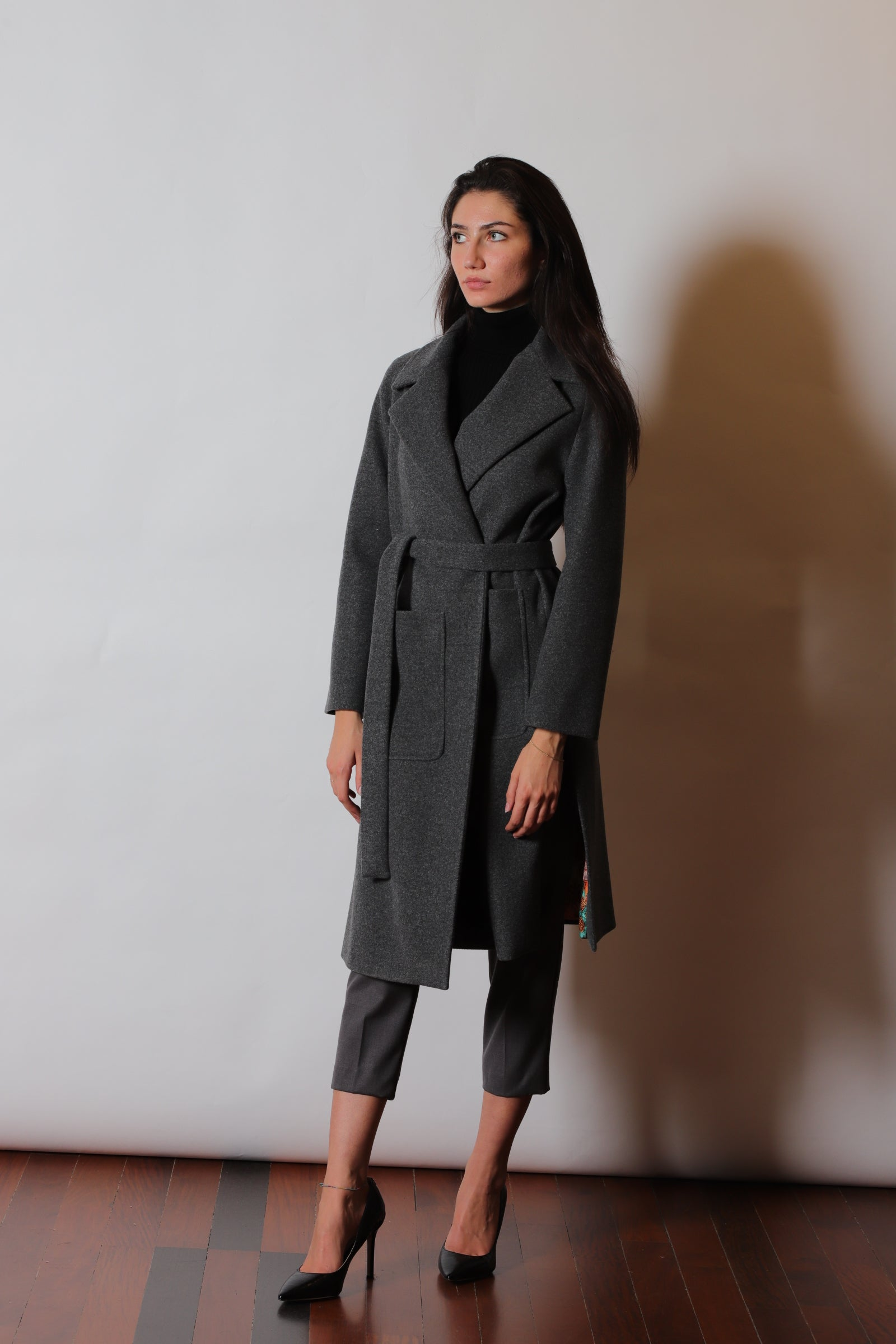 Nora Barth Factory Group - Nora Barth Cappotto Cinta Tasconi E Spacchi Art.17848S - 157