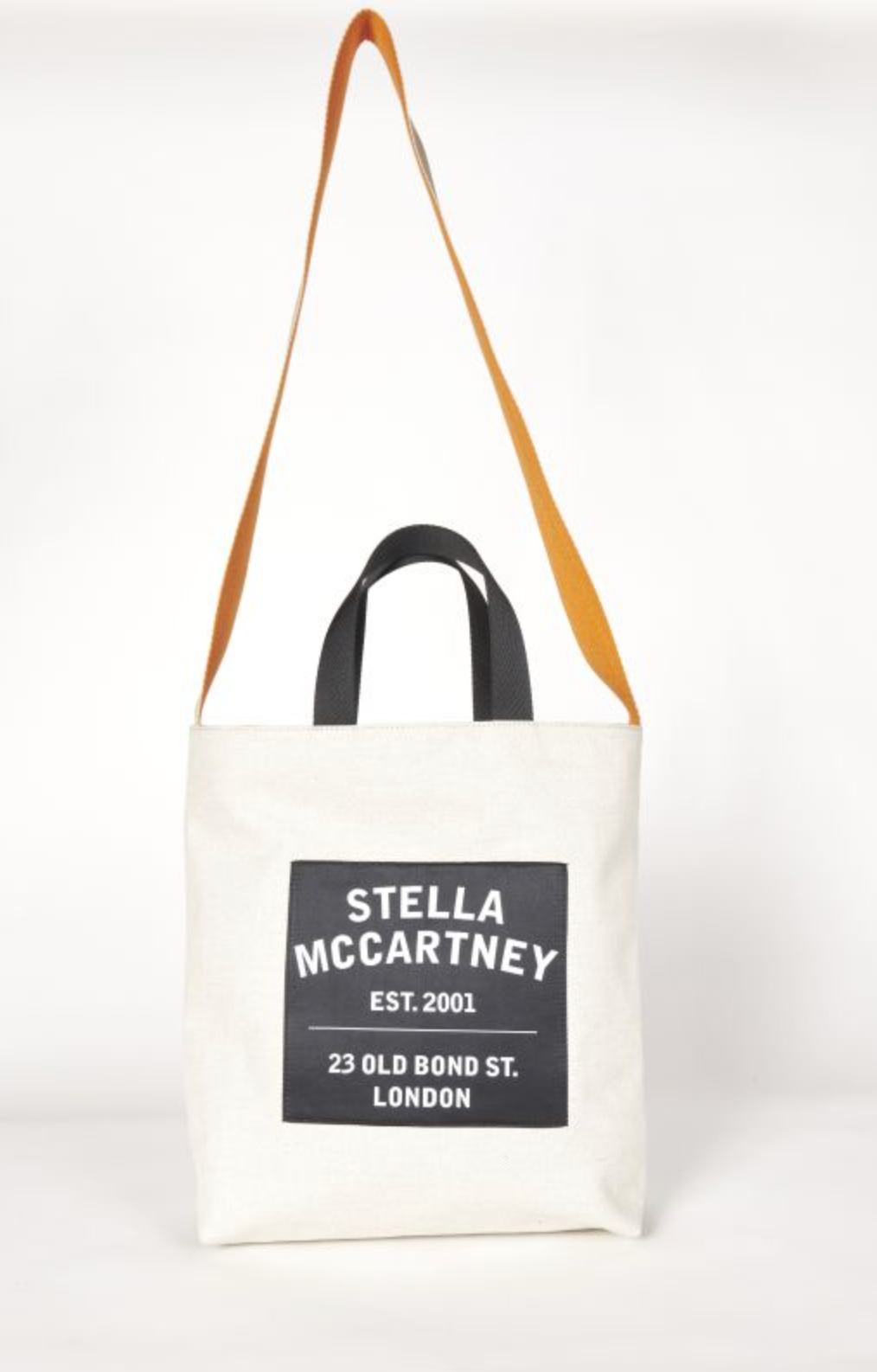 Stella MC Cartney Shopping Tela Con Tracolla Medium Tote Bag Salt & Pepper