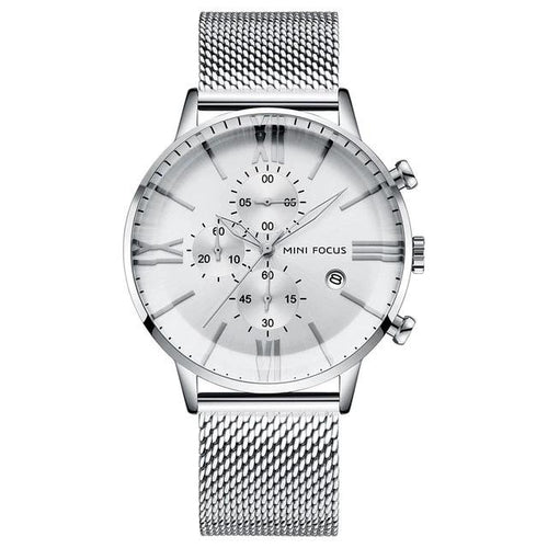 Men's Luxury Quartz Watches Brand  Waterproof Chronograph